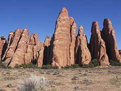 Arches National Park Fins powerpoint backgrounds
