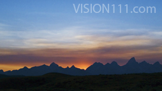 Teton Sunset Background HD