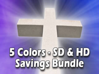 White Stone Cross Video Motion Background Loops for Worship