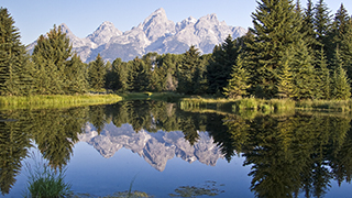 Schwabacher's Landing Grand Tetons Wyoming Poserpoint background