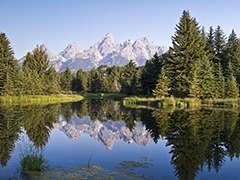 Schwababher's Landing, Grand Teton National Park Wyoming power point and worship background