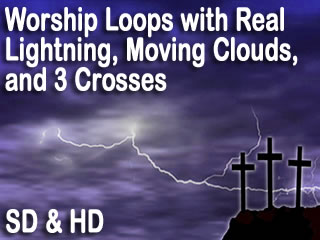Cross Backgrounds with Lightning for Worship, Easter, and more.