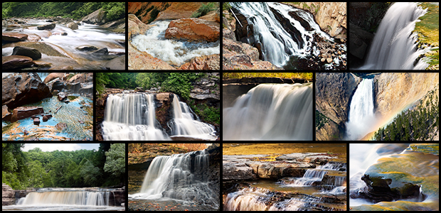 Waterfall Stills Backgrounds for worship and Power point presentations Savings Bundle