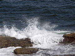 church worship background for lyrics Wave Splash Pemaquid Point Maine