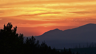 Background for power point easy worship Media shout Yellowstone Sunset Horizon HD